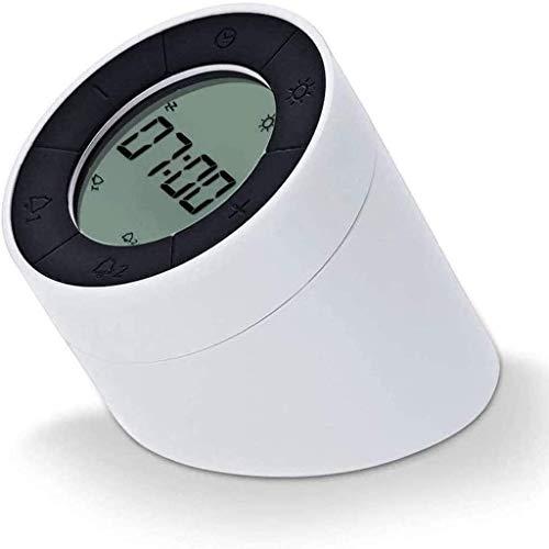 Luces de despertador Flip Electronic Alarm Reloj de despertador Luz de despertador con modos activado por movimiento Luz ambiental regulable suave para regalos Dormitorio de amigos Viaje de la sala de