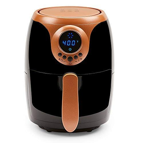 Copper Chef 2 QT Air Fryer - Turbo Cyclonic Airfryer With Rapid Air Technology For Less Oil-Less Cooking. Includes Recipe Book (Black) New Mexico