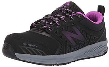 New Balance Women s 412 V1 Alloy Toe Industrial Shoe Black/Purple 8 W US