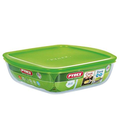 Pyrex  4936458  Cook&store Plat À Four En Verre Carré Avec Couvercle 25x22 Cm