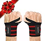 """Wrist Wraps by Rip Toned - 18"""" Professional Grade With Thumb Loops"""