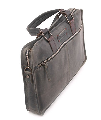 Barbarossa Ruvido Leren Laptoptas 13 inch Military