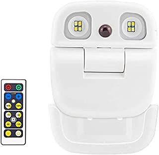 LUXSWAY Rechargeable Led Spotlights, Battery Powered Dimmable Night Lights with Remote, 2 Light Head Warm/Nature/Cool Whit...
