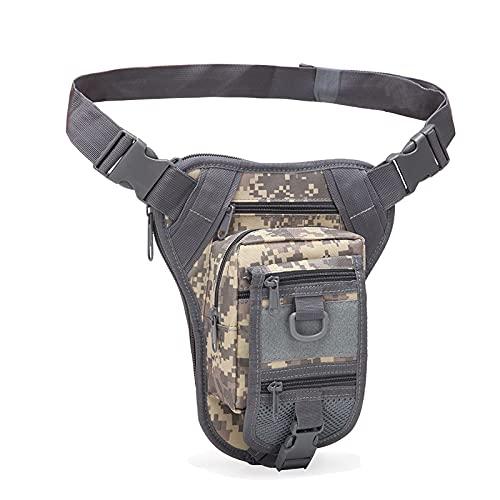 QIANJINGCQ Nuevo camuflaje bolsillos para deportes al aire libre hombres y mujeres fan del ejército bolsa táctica para piernas impermeable alpinismo función de equitación mochila