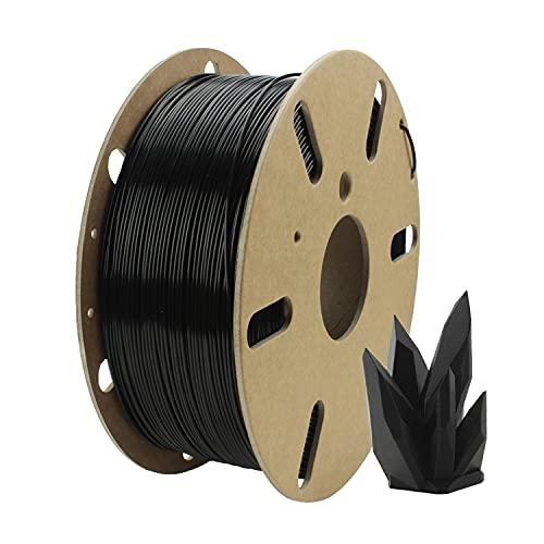 Filamentive PLA - Black/Negro - 1.75mm Filamento de impresión 3D, Material Reciclado + Bobina de cartón 100% reciclable - Habilitación de la impresión 3D sostenible (1KG)