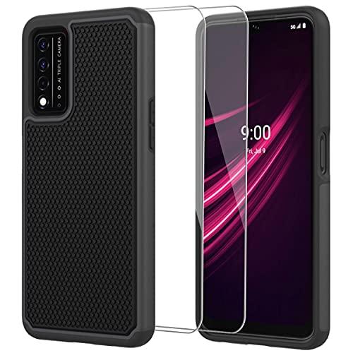 ONOLA for T-Mobile Revvl V Plus 5G Case, T-Mobile Revvl V+ 5G Case with HD Screen Protector [2Pack] Military-Grade Armor Defender Protective Phone Cover,for T-Mobile Revvl V 5G,Black
