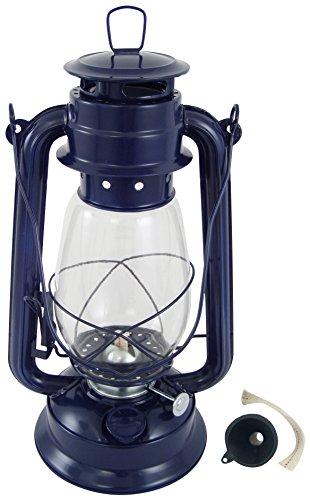 Générique 0304 Lampe tempete Bleu Marine, H. 310 mm, Métal, 14 x 31 x 17 cm