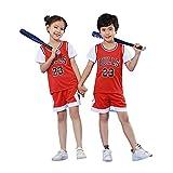 BASPORT Chicago Bulls Jorden # 23 Pull pour enfants Jersey T-shirt joueur de basket.Survêtement de...