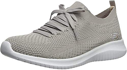 Skechers Sport Women's Ultra Flex Statements Sneaker,taupe,11 M US