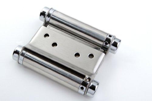Young Schwinn Design - Bisagra para puertas de vaivén (1 unidad, acero inoxidable, 75 mm)