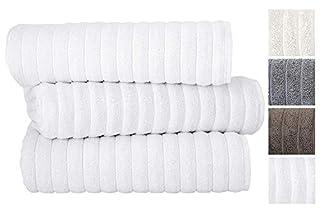 Classic Turkish Towels Luxury Ribbed Bath Sheets - Soft Thick Jacquard Woven 3 Piece Bath Set Made with 100% Turkish Cotton (40X65 Bath Sheets, White) (B00ID87OCS)   Amazon price tracker / tracking, Amazon price history charts, Amazon price watches, Amazon price drop alerts