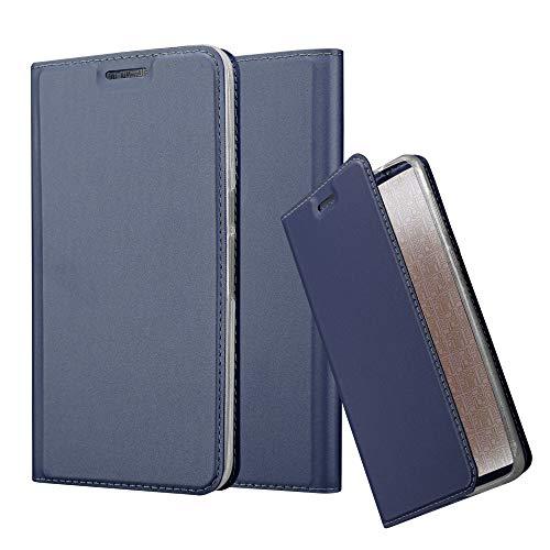 Cadorabo Hülle für Huawei Nexus 6P in Classy DUNKEL BLAU - Handyhülle mit Magnetverschluss, Standfunktion & Kartenfach - Hülle Cover Schutzhülle Etui Tasche Book Klapp Style
