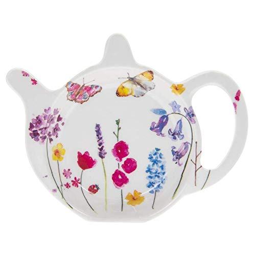 Teebeutelablage mit Schmetterling-Motiv