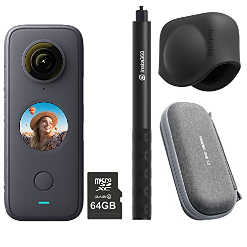 Insta360 ONE X2 360 Degree Action Camera PRO Kit includes 64GB Micro SDHC Card + Case + Invisible...