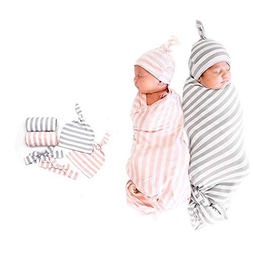 Manta Para Recién Nacido,2 Juego,Recién Nacido Mantas Envolventes Para Dormir,Saco Dormir Manta,0-3 Meses,Suave Cómodo y Transpirable