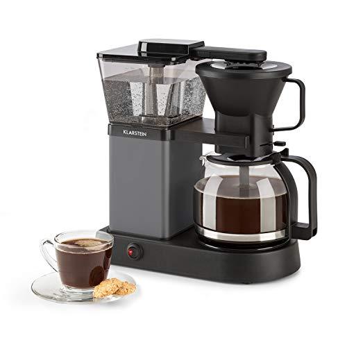 Klarstein GrandeGusto Máquina de café con jarra - Máquina de café con filtro, Cafetera, 1690 W, Depósito de 1,3 litros, Hasta 10 tazas, Calienta hasta 96°C, Conserva el calor, Negro