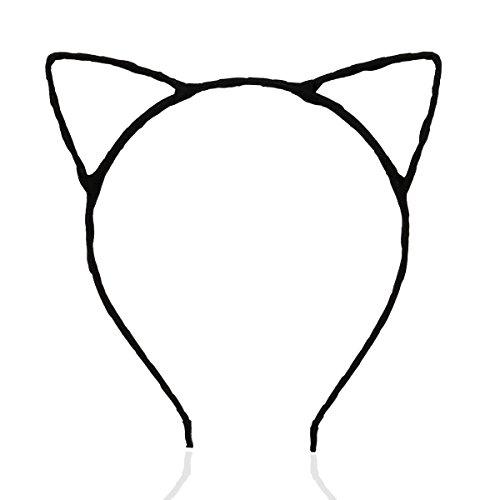 LEORX Katze Ohren verdrahtet Stirnband Kostüm Kostümparty (schwarz)