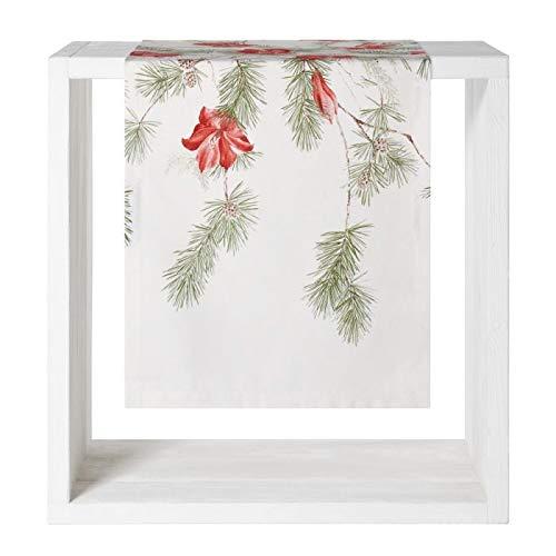 Proflax Tischdecke l Läufer Amara l 50x150cm l Weihnachten l Amaryllis
