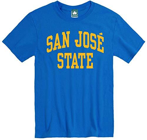 Ivysport San Jose State University SJSU Spartans Short Sleeve Adult Unisex T-Shirt, Classic, Royal Blue, Large