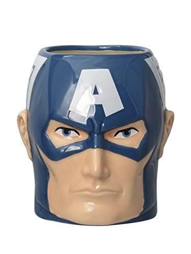 Captain america- Mug Taza Capitán América, Multicolor (Monogram International Inc. 68542)