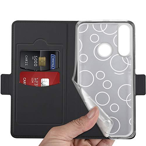 GEEMAI für Huawei Y5 2019 Hülle, für Huawei Y5 Prime 2019 Hülle, handyhüllen Flip Hülle Wallet Stylish mit Standfunktion und Magnetisch PU Tasche Schutzhülle passt für Huawei Y5 2019 Phone, Schwarz - 3