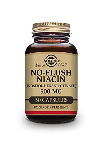 Solgar Niacina no ruborizante 500 mg Cápsulas vegetales - Envase de 50