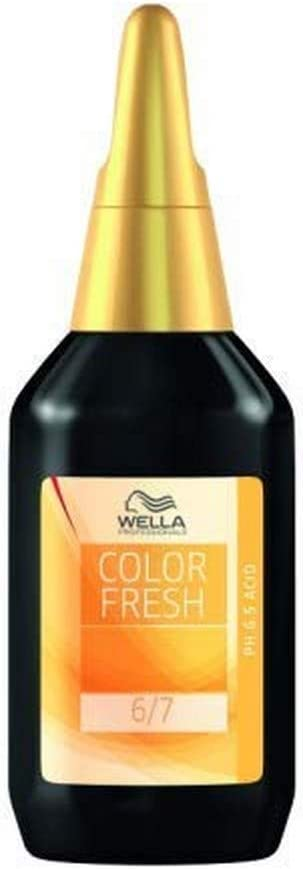 Wella Color Fresh Acid Liquid 6/45 - Tinte de coloración, color rubio oscuro rojo-caoba