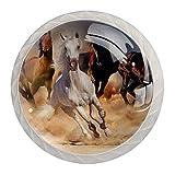 (4 piezas) pomos de cajón para cajones, tiradores de cristal para gabinete, hogar, oficina, armario, caballo, corrida de 35 mm