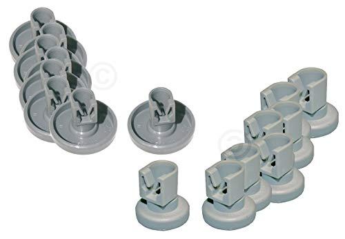 Vioks - Juego de 8 ruedas universales para cesta superior y 8 ruedas para aspiradora Electrolux 50286965004/5028696700