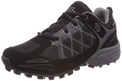 Bruetting Highland, Chaussures de Randonnée Basses Mixte, Noir (Schwarz/Grau Schwarz/Grau), 42 EU