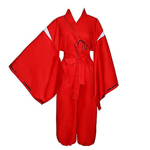 Charous Anime Inuyasha, disfraz de cosplay, kimono, disfraz de Halloween para mujeres y hombres