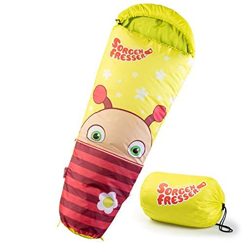 skandika Sorgenfresser Lillifee Schlafsack für Kinder mit großer Tasche, 170 (140 + 30) x 70/45 cm, Polli, Flint, Saggo, Pat, Enno, Lilli (Molly)