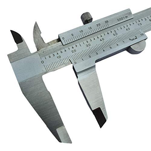 w-mtools Messschieber analog, Nonius 150 mm aus rostfreiem Edelstahl mit hoher Messgenauigkeit (DIN862) - 0,02 mm Ablesung mit Tiefenmessung, Innenmessung, Außenmessung