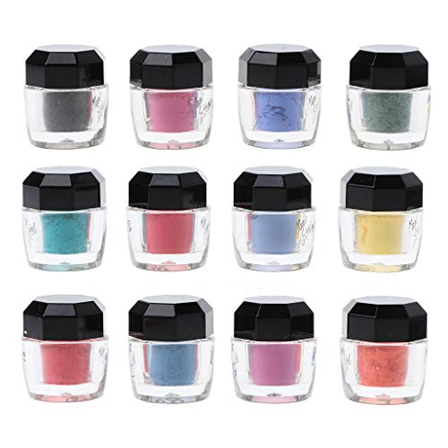 WT-DDJJK 12Pcs Thermochromic Pigment Resin Magisches Pulver Farbwechsel Harz Schmuckherstellung