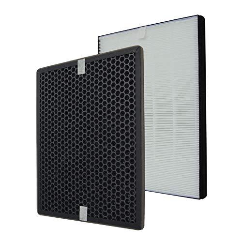 PUREBURG Ersatz-HEPA-Filter + Aktivkohlefilter-Set Kompatibel mit Luftreinigern Philips Series 1000 AC1214/10 AC1215 AC1217 und AC2729/10, Teilenummer FY1410/30 FY1413/30