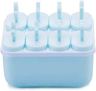 Wmaple Moldes para helados Ice Lolly, 8 piezas Juego de moldes para hielo con moldes