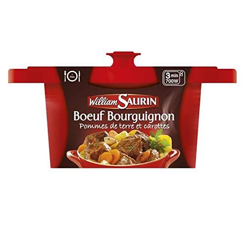 WILLIAM SAURIN - Boeuf Bourguignon Cocotte 400G - Lot De 3 - Livraison Gratuite