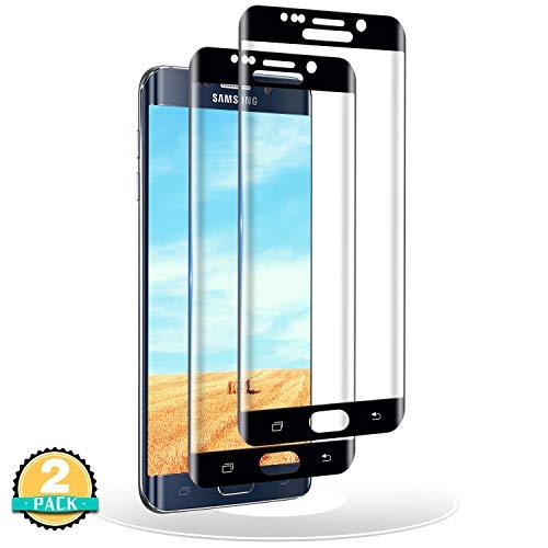 RIIMUHIR 2 Stück Panzerglas Schutzfolie für Samsung Galaxy S6 Edge,3D Vollständige Abdeckung HD Panzerglasfolie für Galaxy S6 Edge,Bläschenfrei 9H Härte Displayschutzfolie für S6 Edge