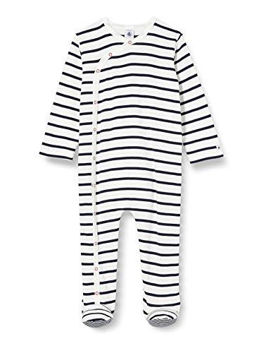 Petit Bateau 5549301 Ensemble de Pyjama, Multicolore (Marshmallow/Smoking Bek), 12-18 (Taille Fabricant:18 Mois) Mixte bébé