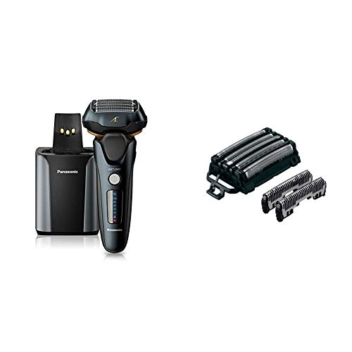 Panasonic Arc5 wet/Dry Electric Shaver & Trimmer for Men, 16-D Flexible Pivoting Head & Auto Cleaninwith WES9032P Men's Electric Razor Replacement Inner Blade & Outer Foil Set