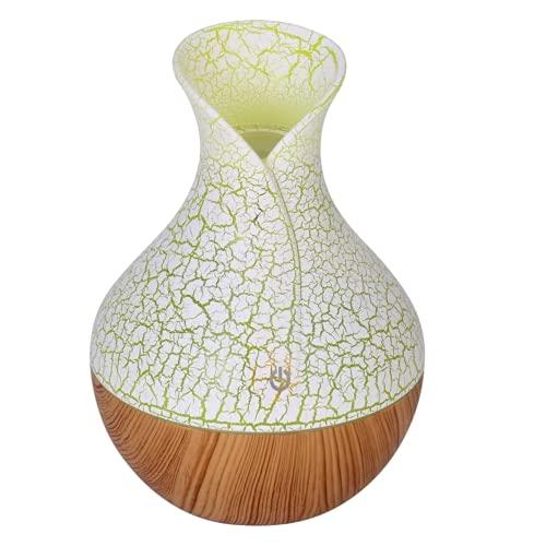 Humidificador SPOCLIN Ultrasónico 130ML, Difusores Humidificadores Aromas, Difusor de Aceites Esenciales, dif Color LED, Humificador Oficina, Yoga, SPA, Bebé, Verde ambiente naturaleza decorac