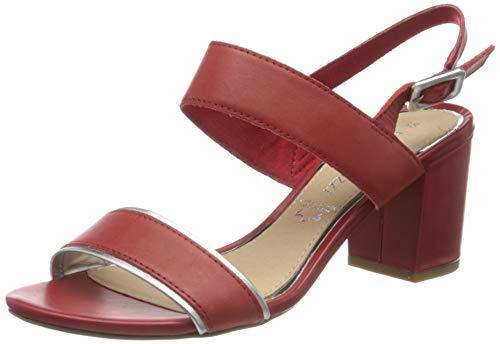 Marco Tozzi 2-2-28335-24, Sandalia con Pulsera para Mujer, Rojo (Chili Comb 543), 37 EU