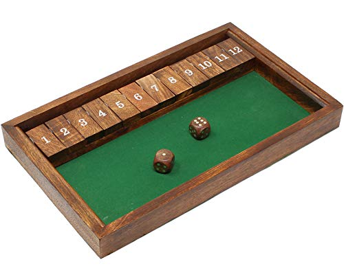 SKAVIJ Strategie Würfel Brettspiel Für Kinder Handgefertigtes Tischspiel Aus Holz Zum Lernen Von Zahlen