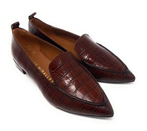 PEDRO MIRALLES 28151 Coco LUISIANA Cuero.Zapato para Mujer de Piel grabada Efecto cocodrilo. (Cuero, Numeric_39)