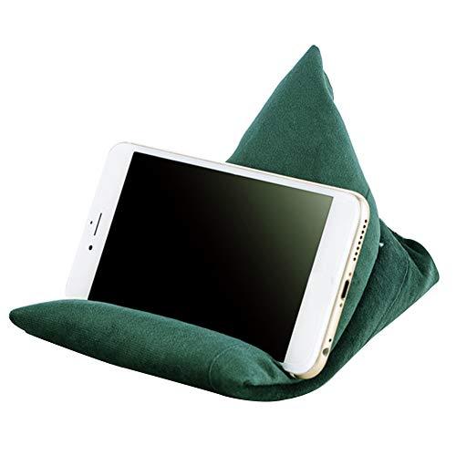 LYCOS3 Handy-Kissenständer, Handyständer, Tablet-Kissenständer, Lap Holder Multifunktionskissen Handyhalter Lazy People Ständer Blasenperlen weich für alle iPads Tablets und E-Book-Reader, grün, S