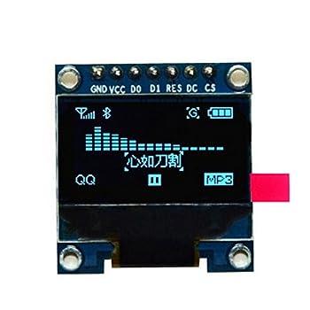 HiLetgo 0.96 SPI シリアル 128×64 OLEDディスプレイ SSD1306