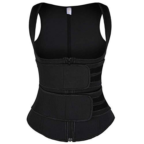 Cinto modelador de cintura feminino com modelador de cintura da Coast Rose, colete modelador de corpo emagrecedor preto G