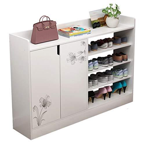 Yhjkvl Zapatero de pasillo para muebles, multifuncional, de imitación de madera, para zapatos, para puerta, organizador de almacenamiento de zapatos (color: A, tamaño: talla única)