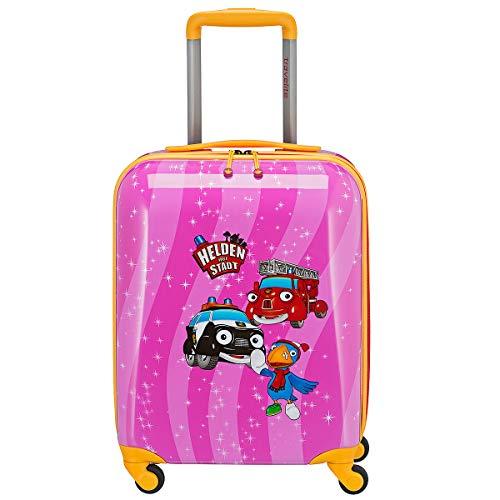 Travelite Robuste, fröhliche Kinderkoffer und Gepäckstücke Helden der Stadt machen jede Reise zum Abenteuer Kindergepäck, 28 Liter, Pink