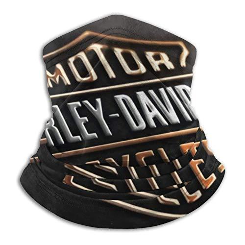 Fashion&shop Harley Davidson Logo Multifuncional Headwear elástico al aire libre cuello transpirable protección UV calentador de cara pulsera